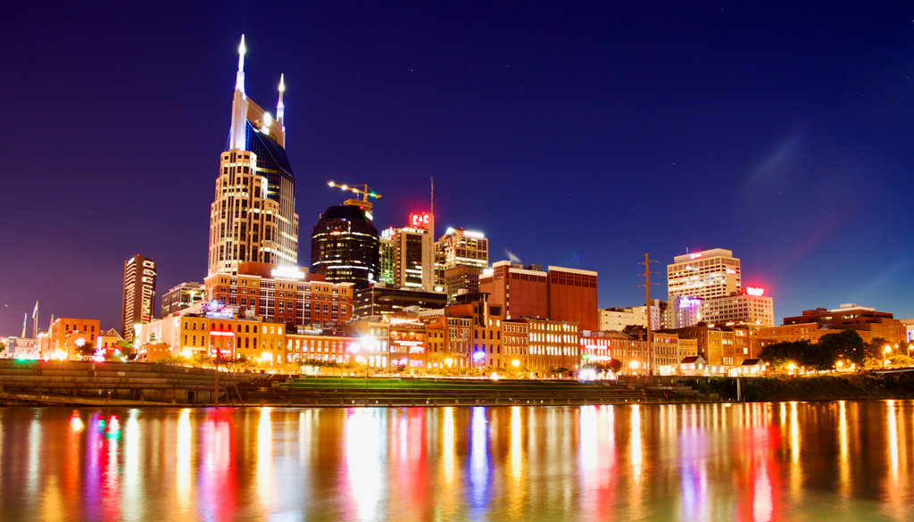 Scenic landscape of downtown Nashville